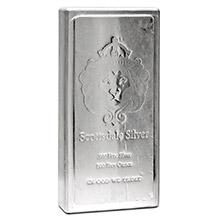 100 oz Silver Bar Scottsdale King Stacker .999 Fine Stackable Bullion Ingot (Secondary Market)