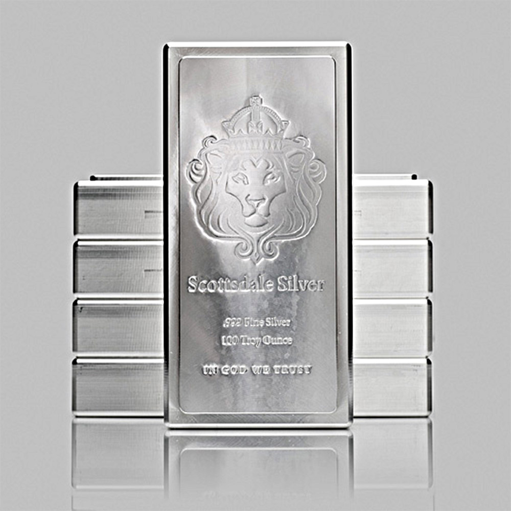 Buy 100 Oz Silver Bar Scottsdale King Stacker 999 Fine