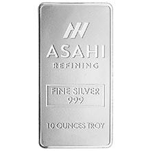 10 oz Silver Bars Asahi .999 Fine Bullion Ingot