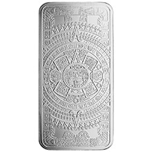 10 oz Silver Bar Aztec Calendar .999 Fine Bullion Ingot