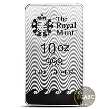 10 oz Silver Bars Royal Mint Britannia .999 Fine Bullion Ingot - Image