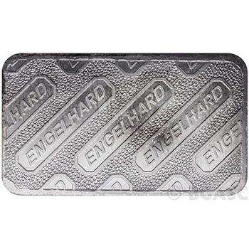 10 oz Engelhard Silver Bars .999+ Fine Struck/Logo Back - Image