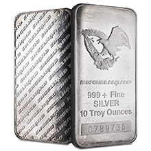 10 oz Engelhard Silver Bars .999+ Fine (Tall / Eagle)