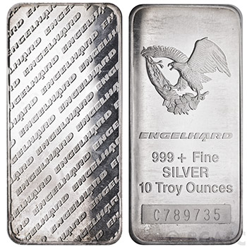 10 oz Engelhard Silver Bars Tall Eagle - Image
