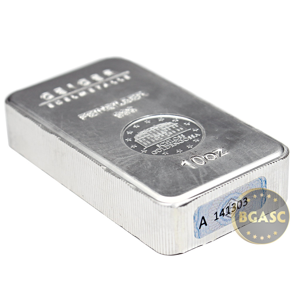 Buy 10 Oz Silver Bars Geiger Security Line 999 Fine