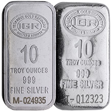 10 oz Silver Bars IGR .999 Fine Cast Bullion Loaf Ingot w/ Assay Certificate