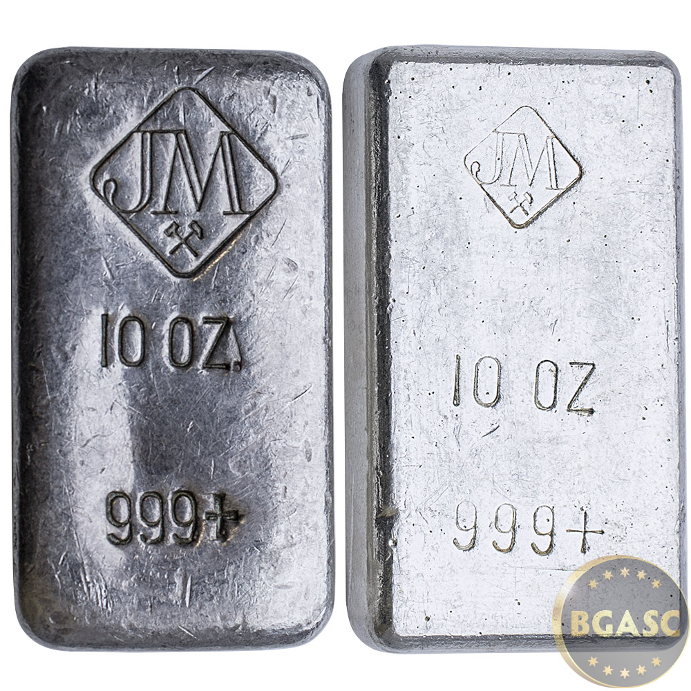 Buy 10 Oz Silver Bars Johnson Matthey 999 Fine Hand