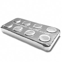 10 oz Silver Bars Monarch Stackable Building Block .999 Fine Bullion Ingot