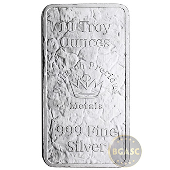 10 oz Silver Bars Monarch Stone Struck .999 Fine Bullion Ingot