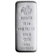 10 oz Silver Bars Pamp Suisse Fortuna .999 Fine Art Bullion Ingot (in Case w/ Assay)