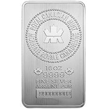 10 oz Silver Bars Royal Canadian Mint RCM .9999 Fine Bullion Ingot