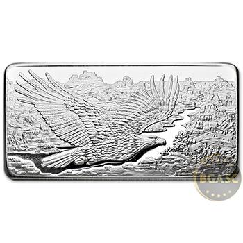 10 oz Silver Bars Republic Metals RMC Eagle .999 Fine Bullion Ingot