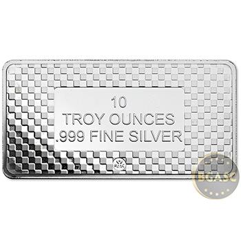 10 oz Silver Bars Republic Metals RMC Eagle .999 Fine Bullion Ingot - Image
