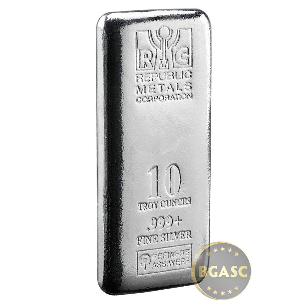Buy 10 Oz Silver Bars Republic Metals Rmc 999 Fine Cast