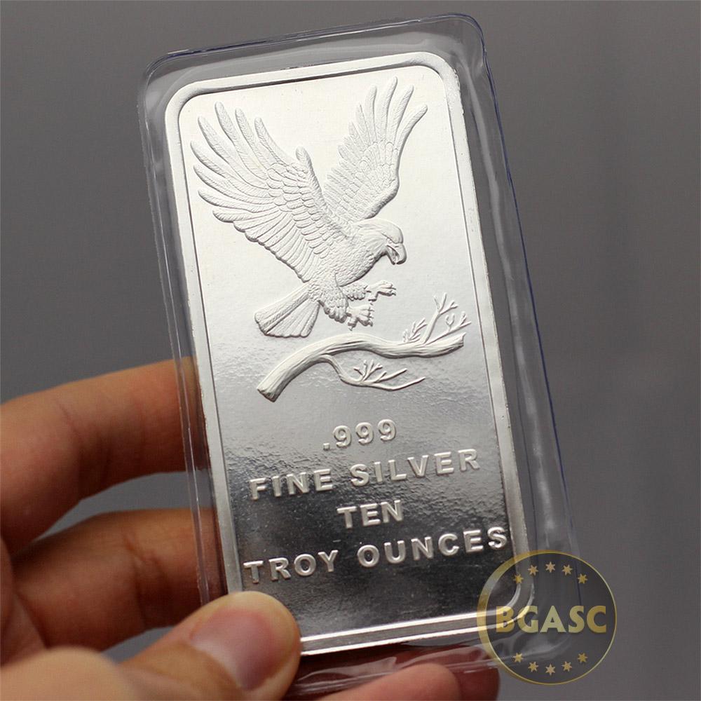 Buy 10 Oz Silver Bars Silvertowne Eagle 999 Fine Bullion
