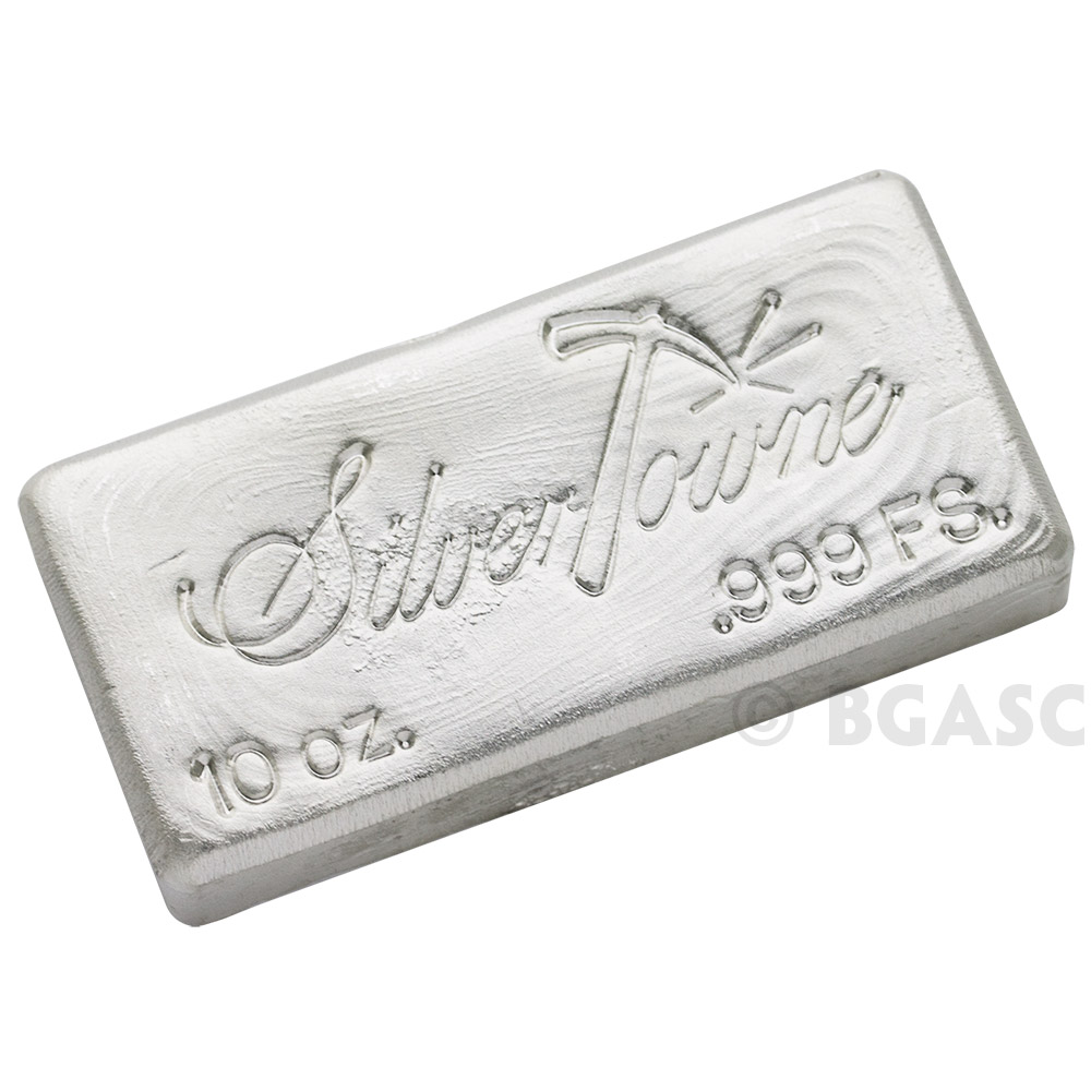 Buy 10 Oz Silver Bars Silvertowne Hand Poured 999 Fine