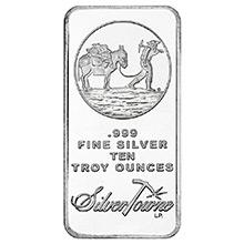 10 oz Silver Bars SilverTowne Trademark Prospector .999 Fine Bullion Ingot