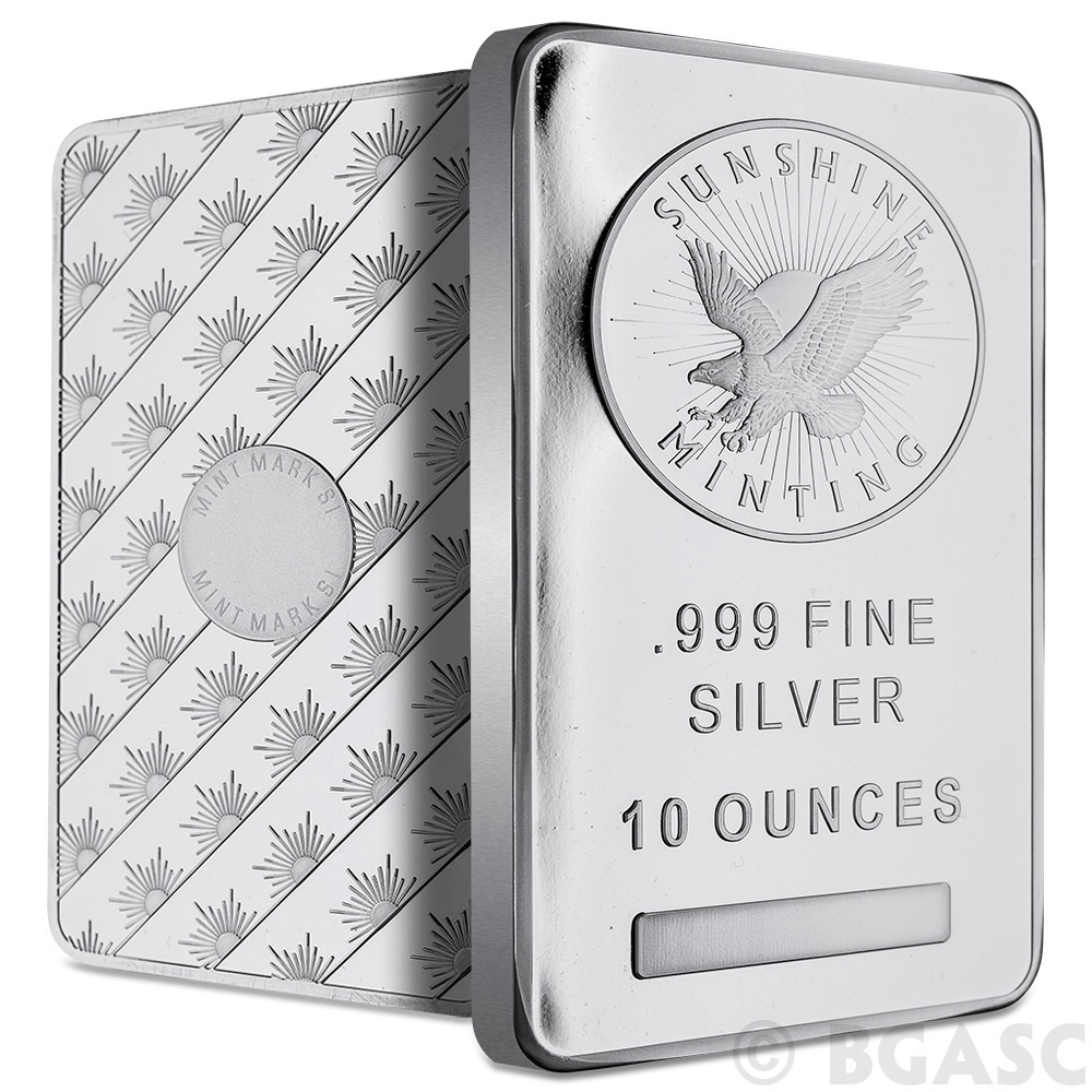 Buy 10 Oz Silver Bars Sunshine Minting 999 Fine Bullion