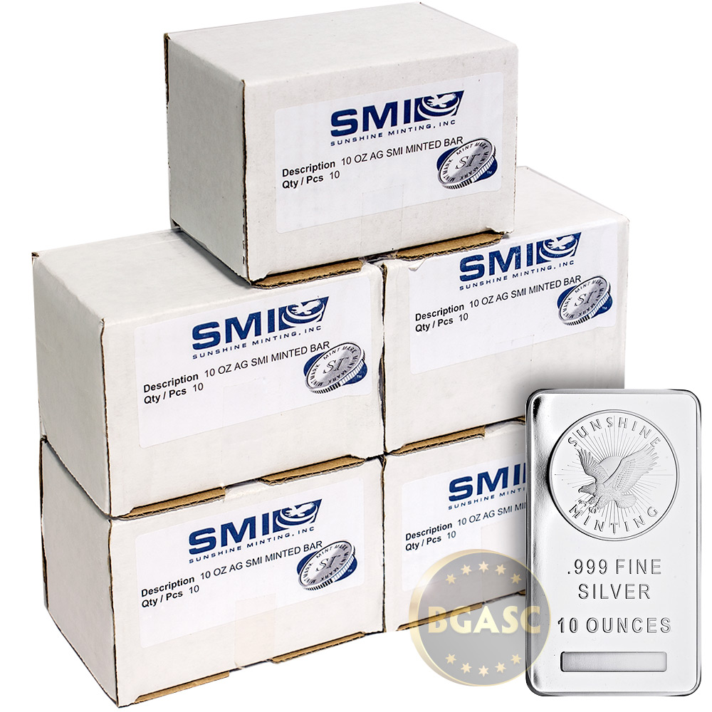 Buy Monster Box Of 10 Oz Silver Bars Sunshine Minting 999