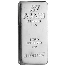 1 Kilo Silver Bar Asahi (32.15 troy oz) .999 Fine Bullion Ingot