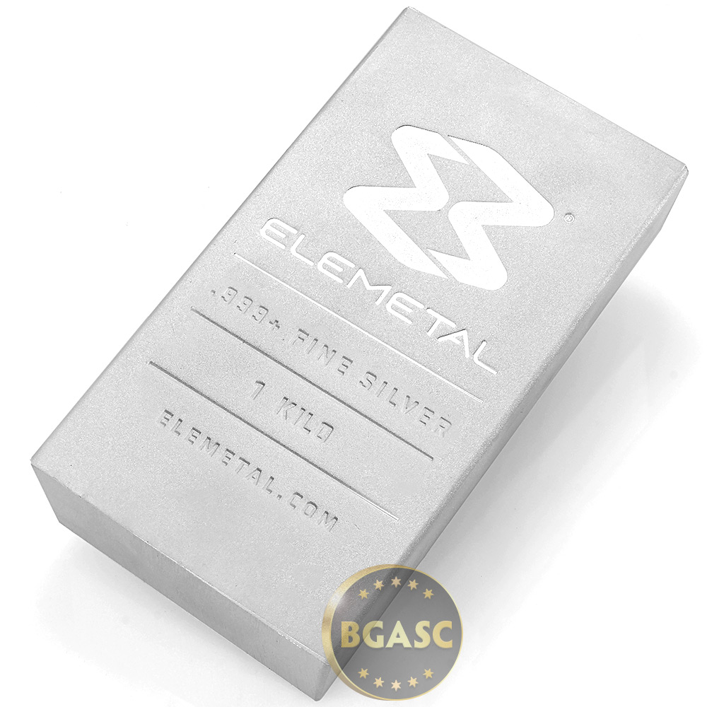 Buy 100 Oz Silver Bar Elemetal 999 Fine Bullion Ingot