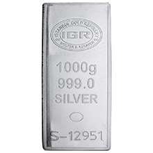1 Kilo Silver Bar IGR (32.15 troy oz) .999 Fine Bullion Ingot w/ Assay Certificate