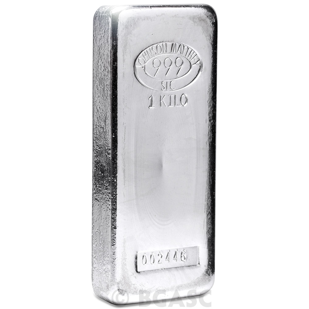 Buy 1 Kilo Silver Bar Johnson Matthey 32 15 Troy Oz 999