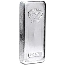1 Kilo Silver Bar Johnson Matthey (32.15 troy oz) .999 Fine Ingot - Secondary Market