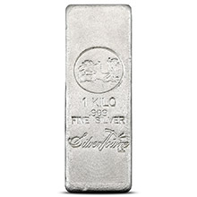 1 Kilo Silver Bar SilverTowne (32.15 troy oz) Hand Poured .999 Fine Bullion Ingot
