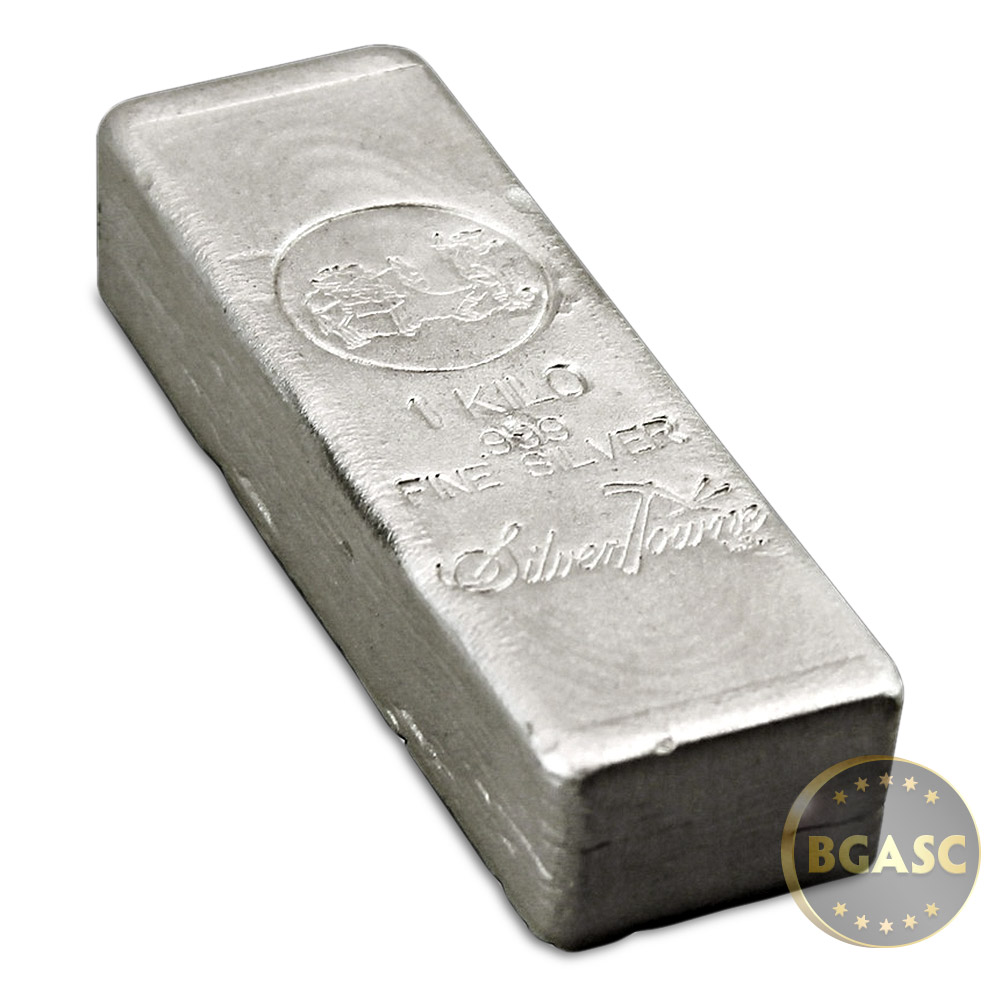 Buy 1 Kilo Silver Bar Silvertowne 32 15 Troy Oz Hand