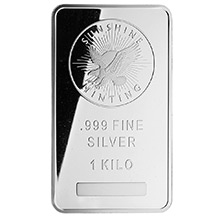 1 Kilo Silver Bar Sunshine Minting (32.15 troy oz) .999 Fine Bullion Ingot