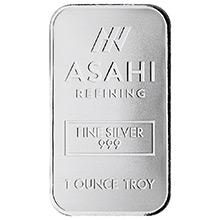 1 oz Silver Bar Asahi .999 Fine Bullion Ingot