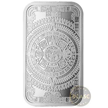 1 oz Silver Bar Aztec Calendar .999 Fine Bullion Ingot