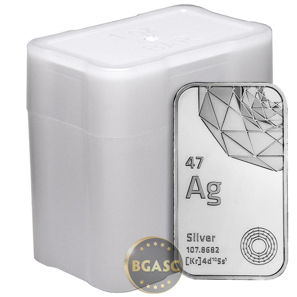 Buy 1 Oz Silver Bar Elemetal 999 Fine Bullion Ingot