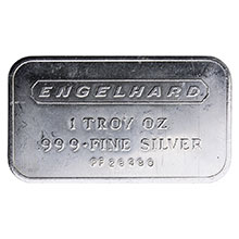 1 oz Silver Bar Engelhard .999+ Fine Bullion Ingot (Secondary Market)