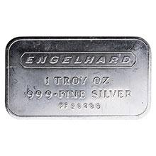 1 oz Silver Bar Engelhard .999+ Fine Bullion Ingot - Landscape (Secondary Market)