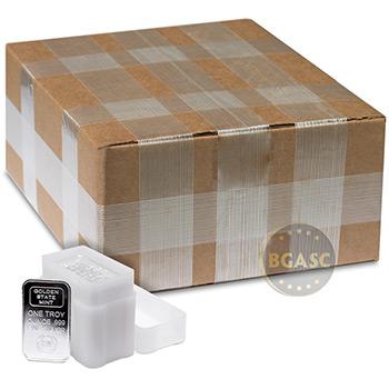 Monster Box of 1 oz GSM Logo Silver Bars .999 Fine Bullion (500 Bars)
