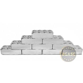 1 oz Silver Bars Monarch Building Block .999 Fine Bullion Ingot - Image