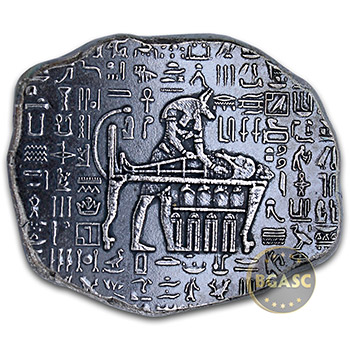 1 oz Silver Relic Bar Monarch Egyptian God Anubis .999 Fine Ingot
