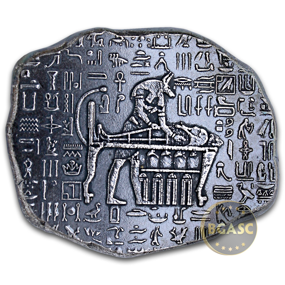 Buy 1 Oz Silver Relic Bar Monarch Egyptian God Anubis 999