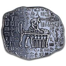 1 oz Silver Relic Bar Monarch Egyptian God Anubis .999 Fine Ingot