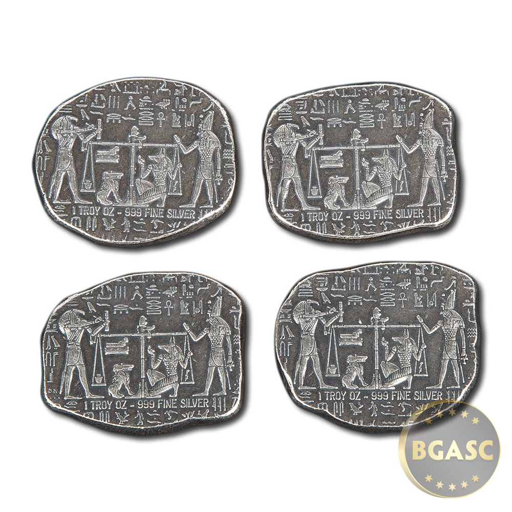 Where To Buy Silver - 1 oz silver relic bars monarch egyptian god anubis 999 fine ingot image