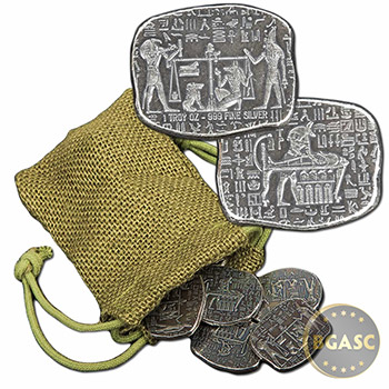 1 oz Silver Relic Bars Monarch Egyptian God Anubis .999 Fine Ingot - Image