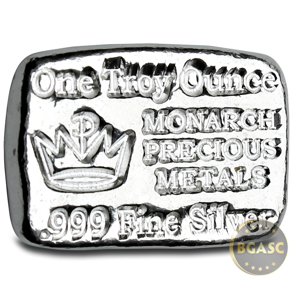 Buy 1 Oz Silver Bars Monarch Hand Poured 999 Fine Bullion Loaf Bar Liberty Walking 1oz Ingot