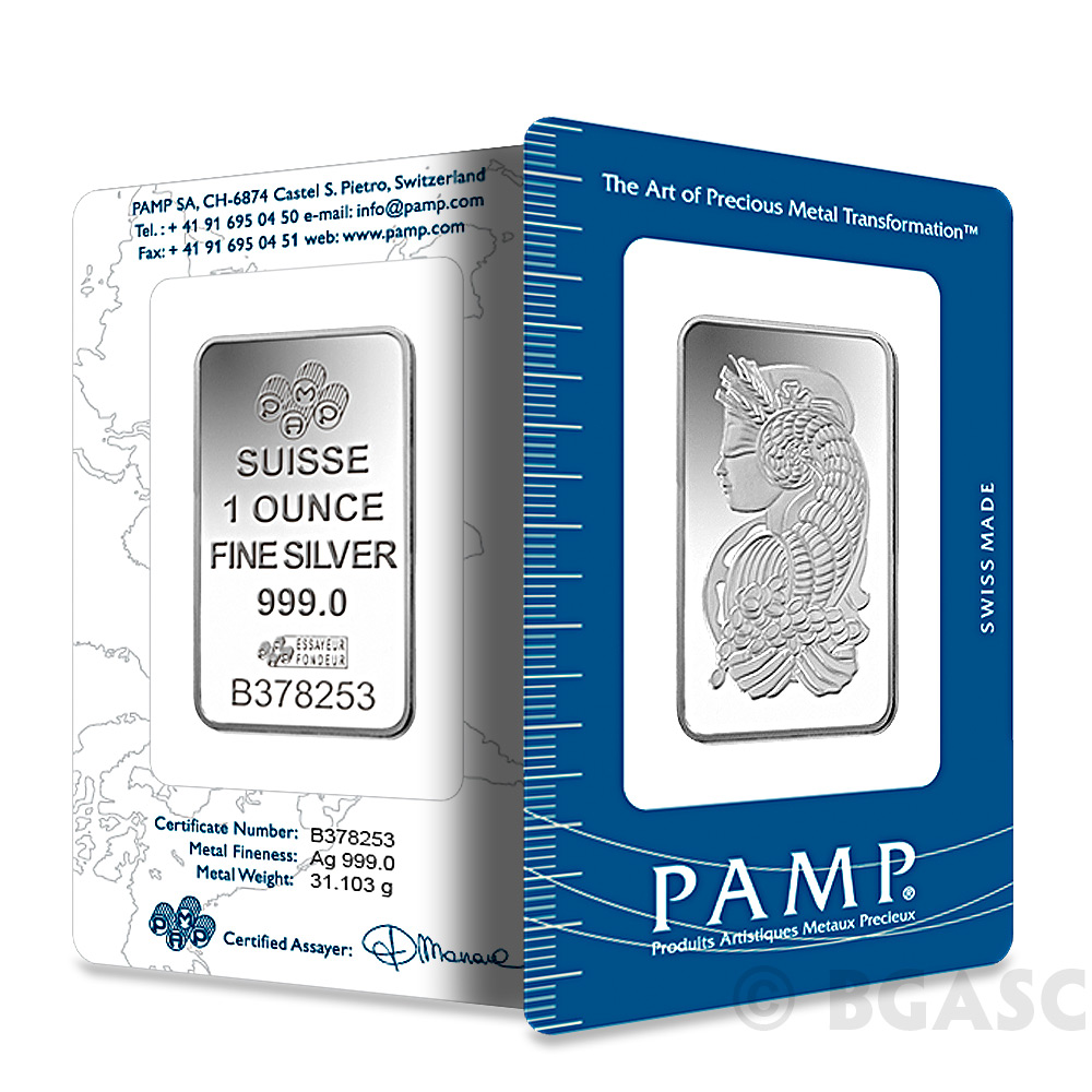 Buy 1 Oz Silver Bar Pamp Suisse Fortuna 999 Fine Art