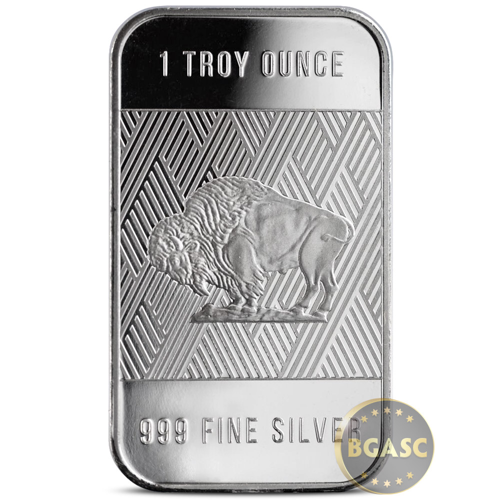 1 oz Republic Metals Silver Bar .999 Fine RMC