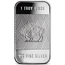 1 oz Silver Bar Republic Metals RMC Buffalo .999 Fine Bullion Ingot