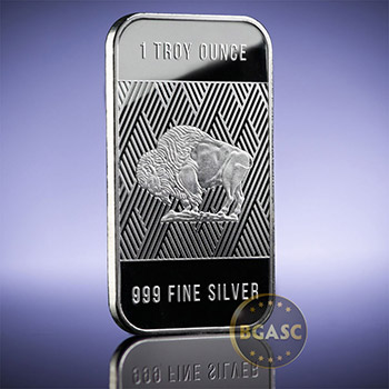 1 oz Silver Bar Republic Metals RMC Buffalo .999 Fine Bullion Ingot - Image