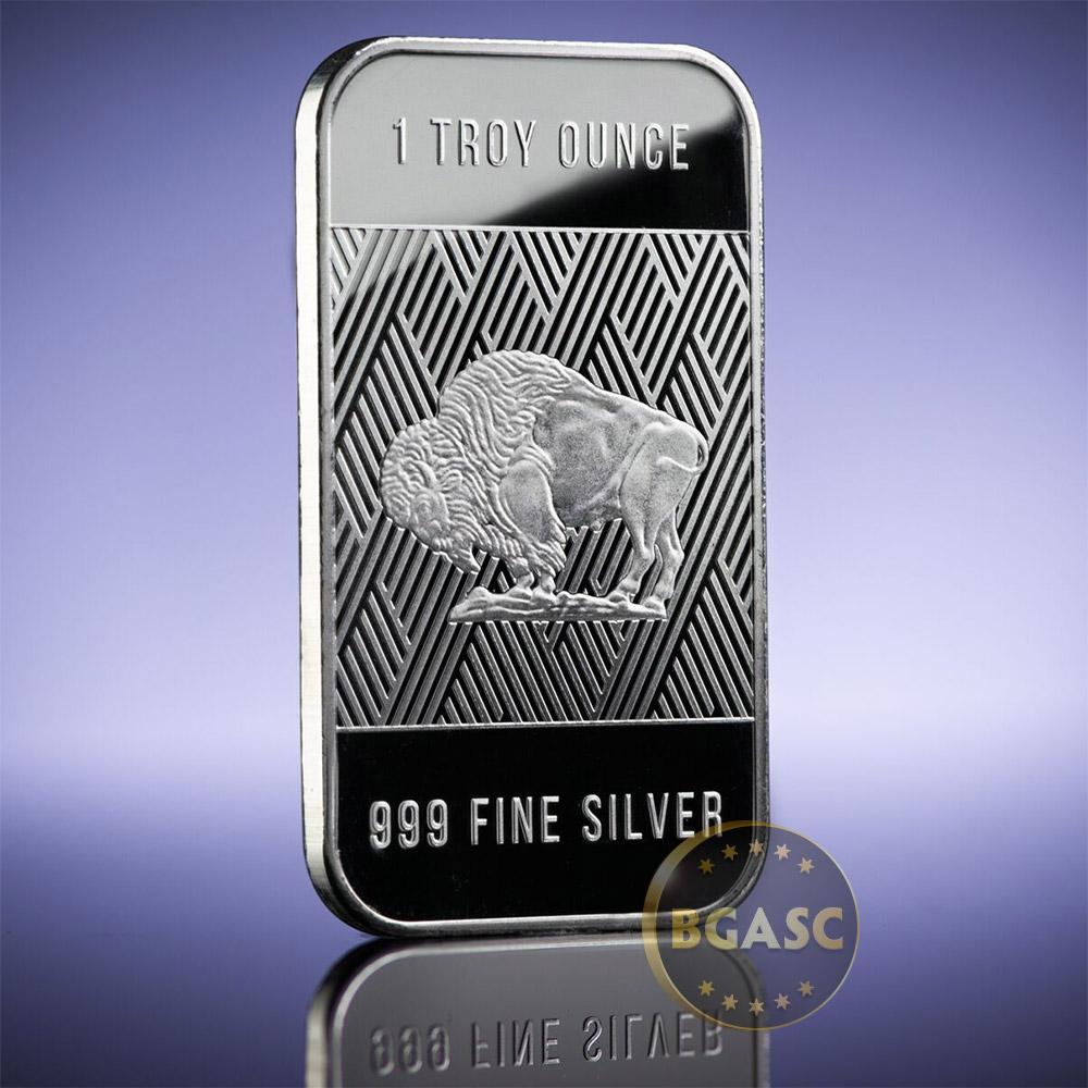 Buy 1 Oz Silver Bar Republic Metals Rmc Buffalo 999 Fine
