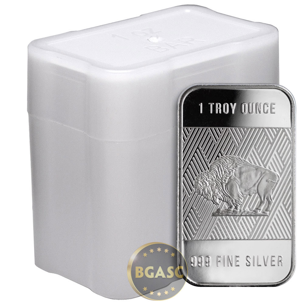 Buy 1 Oz Silver Bar Republic Metals Rmc Buffalo 999 Fine